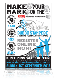 Dubbo Stampede Runners World Press Advertising